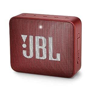 JBL Go 2 Portable Waterproof Bluetooth Speaker with mic (Ruby Red)