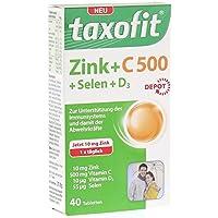 Preisvergleich für taxofit Zink + C 500 + D3 Depot, 40 Tabletten