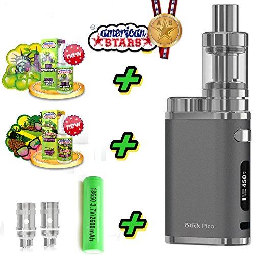 E-Zigarette Starter Set SC by Eleaf iStick Pico 75W 2600mAh | TC (Temperaturregelung) mit Integriertem Sony Akku | mit American Stars - 00mg Rauchen ohne Nikotin