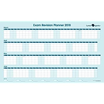 EXAM REVISION WALL PLANNER 2018 with \'Hints & Tips\' Guide & stickers ...