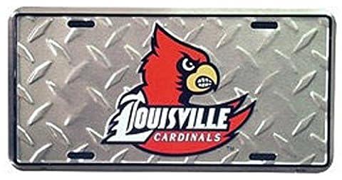 (6x12) Louisville Cardinals Diamond Cut NCAA Tin License Plate