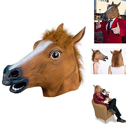 Da.wa marrone halloween mask prom cos lattice maschera animale copricapo cavallo testa di cavallo