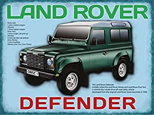 plaque métal 40x30 cm land rover 4x4 defender