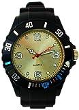 * * Premium * * Black EDITION–orologio in silicone bianco XL moda UNISEX Orologio da polso orologio da donna Orologio da uomo Sport Style Trend WATCH forte nella moda impulsfoto qualità orologi top un assoluto Must-Have. Non prodotto economico in BLACK EDITION–bianco di Avci base