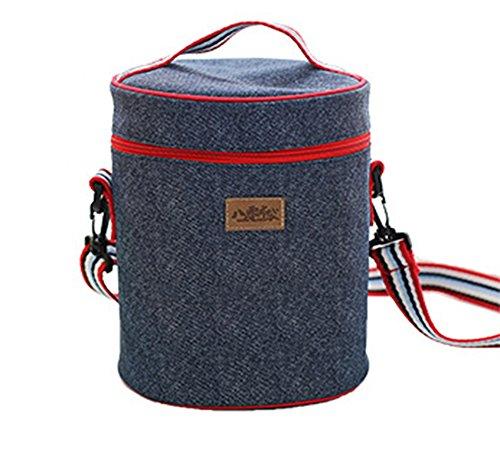 Kühlbox Kühltasche, Kühltasche tragbar, Strandtasche für das Picknick Familial, Camping, Grill und Mahlzeiten im Freien-Reisetasche-Kühlbox Weich-Coolbag-Kühltasche einer Form