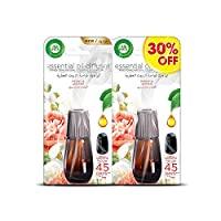 Air Wick Air Freshener Essential Oil Diffuser Refill, Peony & Jasmine Twin Pack