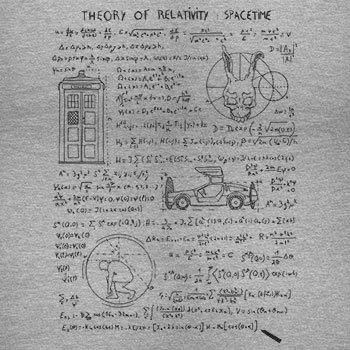 TEXLAB - Theory of Relativity - Herren Langarm T-Shirt Grau Meliert
