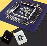 No. 01 BY mAh Jong Mahjong Jongg Majong Cartone Animato Bello Piccolo Mostro Mahjong 144 Carte Portatile Manette Domestico Macchina Tempo Libero Regalo (42MM, Mahjong + Coperta + Righello)