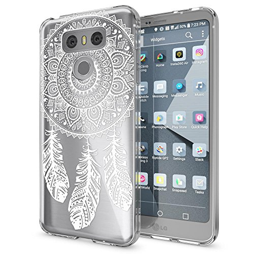 NALIA Handyhülle kompatibel mit LG G6, Motiv Design Ultra-Slim Silikon Case Cover, Crystal Schutzhülle Handy-Tasche Dünn, Muster Etui Backcover Hülle Smart-Phone Bumper, Designs:Dreamcatcher