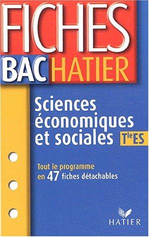 Fiches bac : Sciences économiques et sociales, terminales ES