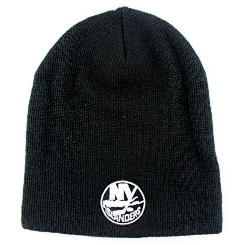 American Nadel NHL Team Logo Basic Mütze Ohne Aufschlag Knit Hat, Mädchen Damen Jungen Unisex Herren, New York Islanders-Black, One Size Fits Most (New York Islanders Hoodie)