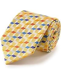 cravate cubes 3D jaune