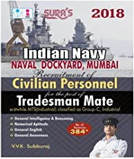 Indian Navy ( Naval , Dockyard , Mumbai ) Civilian Personnel Tradesman Mate Exam Books 2018