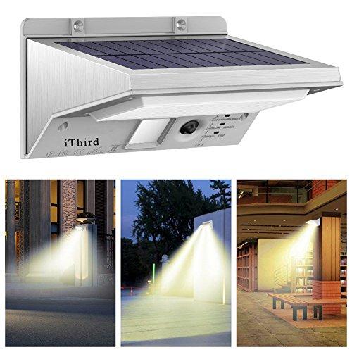 Lámparas Solares, iThird 21 LED Luz Solar con Sensor de Movimiento Fo