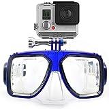 HLC - Gafas de buceo (compatibles con cámara GoPro Hero 1, 2, 3, 3+, 4,M271BU),color azul