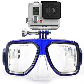 576593422534 HLC – Maschera da sub, compatibile con GoPro Hero 1, 2, 3, 3+, 4, M271BU),  colore: blu