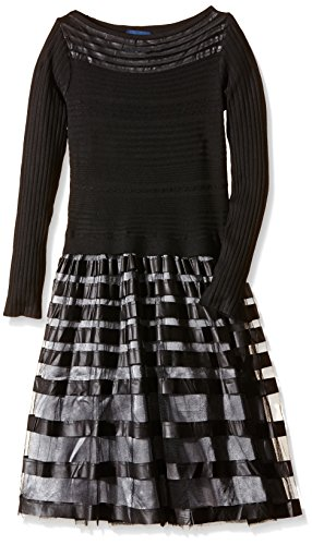 Tantra - Dress with knitted body and lace skirt - Robe Femme Noir