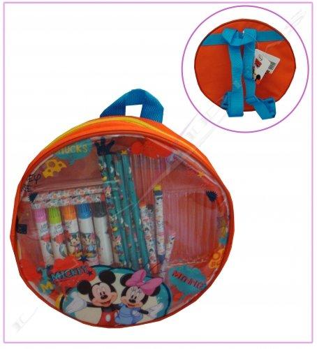 Disney Mickey und Minnie rund Stationery Rucksack Set
