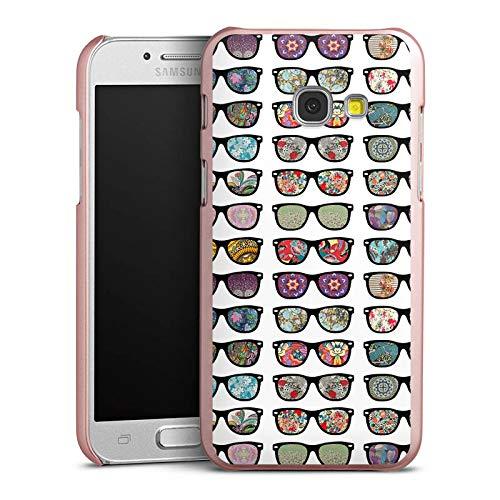 DeinDesign Hülle kompatibel mit Samsung Galaxy A3 Duos 2017 Handyhülle Case Glasses Brille Hipster