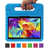 NEWSTYLE Samsung Galaxy Tab S 10.5 Kiddie Case - Light Weight Shock Proof Convertible Handle Stand Kids Friendly for Samsung Tab S 10.5-Inch Tablet SM-T800 SM-T805 (Blue)