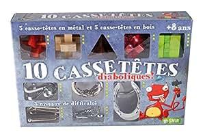Smir - Cars Coffret Cadeau de 10 Casse-Tête Diabolique, CT9910, .