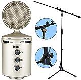 Icon U24grande membrana microfono a condensatore USB + supporto microfono keepdrum MS107