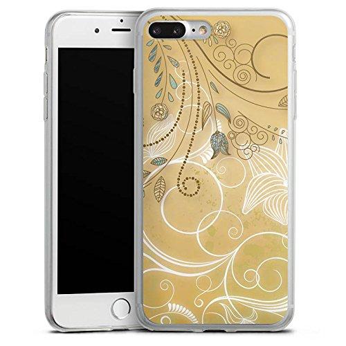 Apple iPhone 8 Plus Slim Case Silikon Hülle Schutzhülle Tulpe Pastell Floral Silikon Slim Case transparent