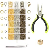 2314tlg Sprung Ringe ZoomSky 2314tlg DIY Schmuckherstellung Zubeh/ör Set,/Öffnen Sprung Ringe mit Karabinerverschluss Schmuckzange f/ür Schmuck Basteln Reparatur Herstellung in 5 Gr/ö/ße und 3 Farben