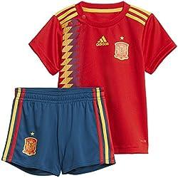 adidas Federación Española de Fútbol Conjunto, Unisex Bebé, Rojo (Dorfue), 68-3/6 Meses