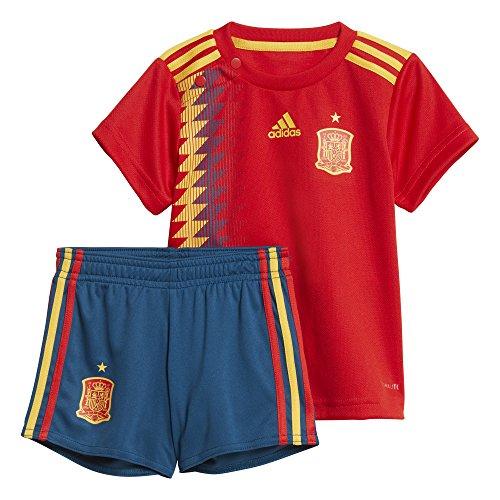Spanien Heim Fußball Trikot (adidas Kinder Spanien Heim Mini Kit, Red/Bold Gold, 86.0)