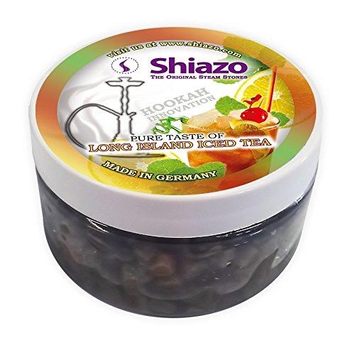 Shiazo 100gr, Dampfsteine Steam Stones für Shisha und Shisha mit 40Aromen und Düfte wählbar Iced Tea Long Island -