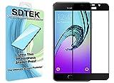 SDTEK Samsung Galaxy A5 2016 (Noir) Couverture complète Verre Trempé Protecteur d'écran Protection Résistant aux éraflures Glass Screen Protector Vitre Tempered