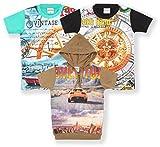 TONYBOY Boys Trendy Printed T-Shirt (Pac...