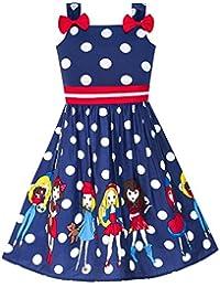 9ccaf3fd87bce Sunny Fashion Robe Fille Bleu Coccinelle Rose Point