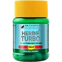 Dr. Vaidya's New Age Ayurveda | Herbo24Turbo | Ayurvedic Shilajit Vitalizer for Men | 30 Capsules