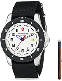 Victorinox de hombre 241676.1pantalla analógica Swiss reloj de cuarzo negro