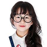 Mädchen Junge Brillen - Rund Stil Brille Kunststoff Brillenfassung Keine Objektive Gläser für Baby Kinder Unisex