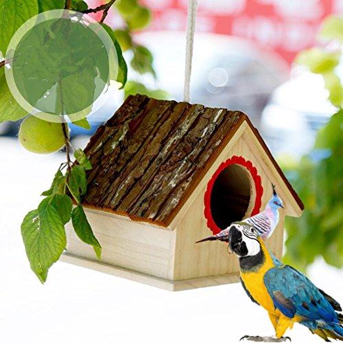 LA VIE Casa para Pajaros Caja Nido para Loro Agapornis Canario Caja de Cría de Pajaros Artículos de Incubación Refugio de Aves Bird Parrot House Nest Accesorios de Decoración 01