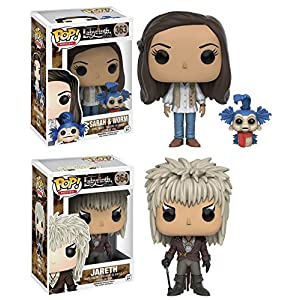 Funko POP Labyrinth Sarah w Worm And Jareth Stylized Vinyl Figure Set NEW