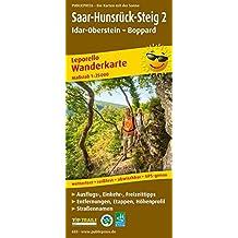 Saar-Hunsrück-Steig 2, Idar-Oberstein - Boppard: Leporello Wanderkarte mit Ausflugs-, Einkehr- und Freizeittipps, Entfernungen, Etappen und ... 1:25000 (Leporello Wanderkarte / LEP-WK)
