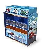 Spielzeugregal - Standregal - Aufbewahrungsregal 6 Boxen mit Motivauswahl (Planes)