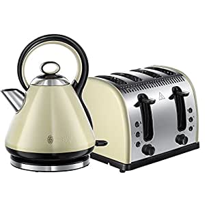 Russell Hobbs Legacy 4 Slice Toaster and Russell Hobbs Legacy Kettle - Cream