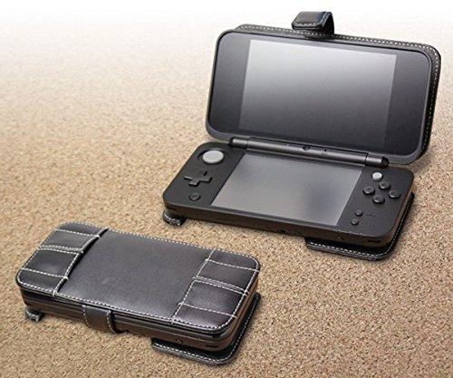 PDair New Nintendo 2DS LL Flip Leder Tasche, Leder Folio Magnetisch traditioneller Stil Schlank Hülle | Luxus Leder-Buch-Kasten für New Nintendo 2DS LL | 2DS XL Pdair Flip Case
