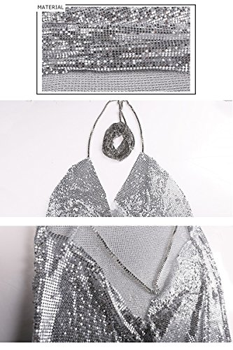 Missord - Robe - Cocktail - Sans Manche - Femme silver