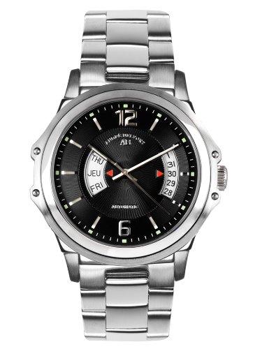 André Belfort 410151 - Reloj analógico de caballero automático con correa de acero inoxidable plateada - sumergible a 50 metros