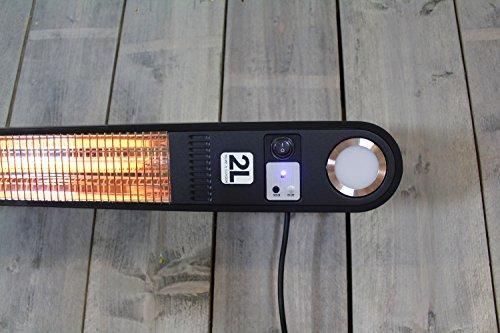 Heizstrahler Elegance mit LED Beleuchtung – 1500 Watt – Schwarz – Deckemontage - 5