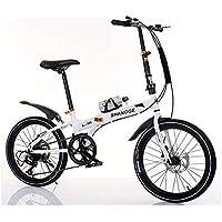 LETFF Bicicleta Plegable para Adultos de 20 Pulgadas de Velocidad de absorción de Choque Estudiante niños