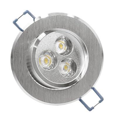 Lumira LED Einbaustrahler Einbauspot Downlight 3W rund schwenkbar aluminium mit Trafo