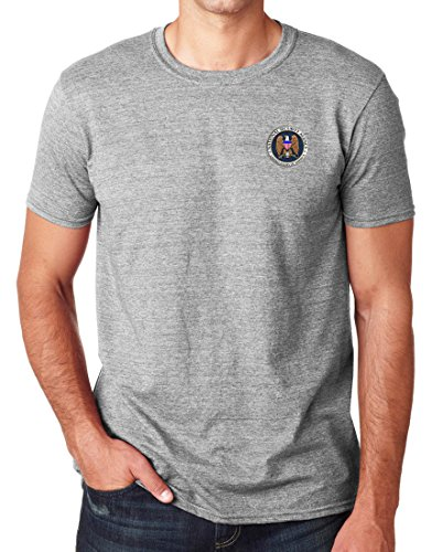 US NSA Spy Agency Logo cucito – Cotton T-Shirt per uomo by Military Online Grigio