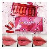 LCLrute Gecemo 7Pcs / set Flüssiger Lippenstift Einfach Zu Tragen Langlebiger Lipgloss Wasserdicht
